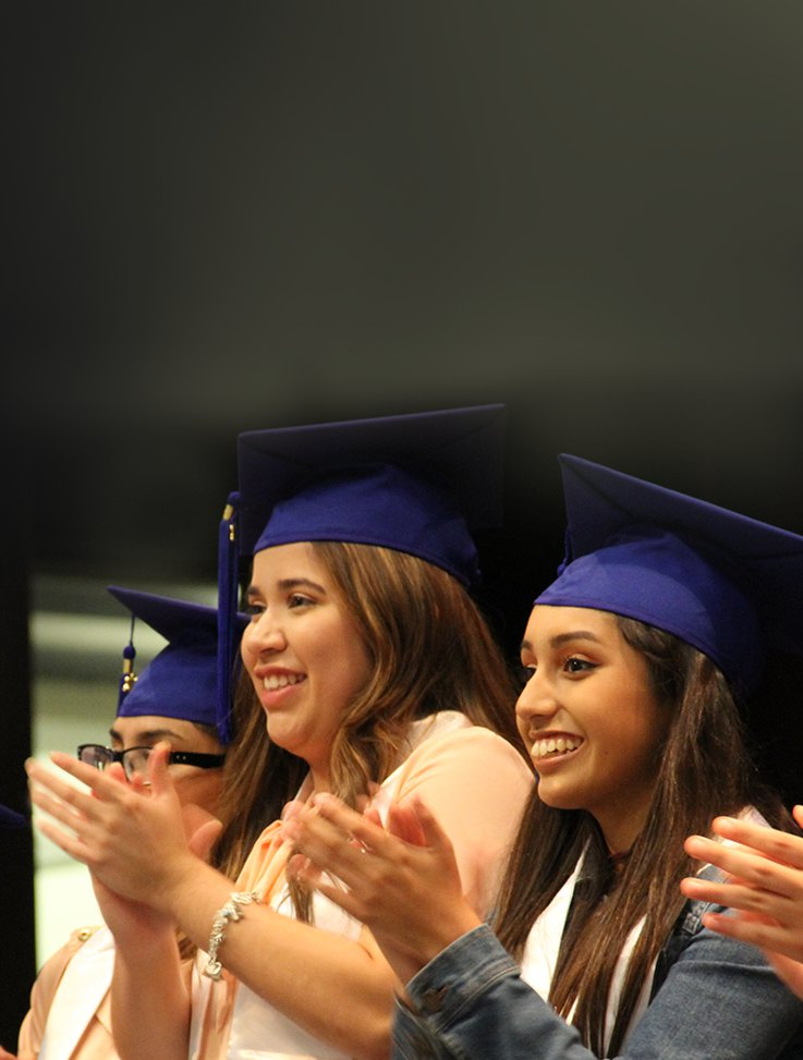 Clapping graduates